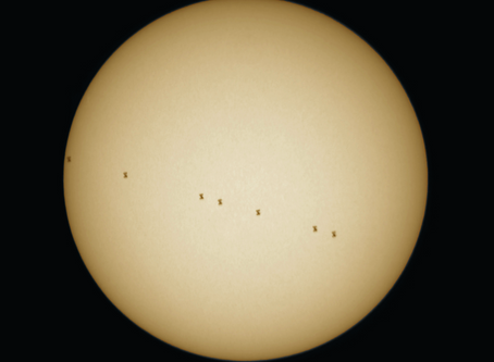 Transit of the ISS by the Sun