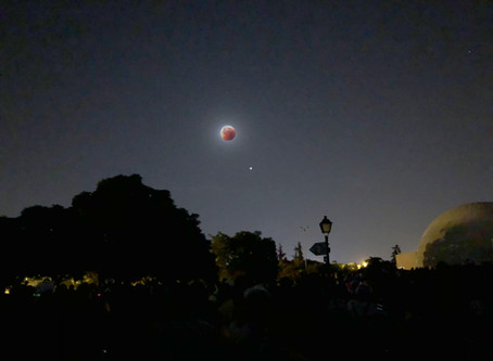 Total moon eclipse at the planetarium