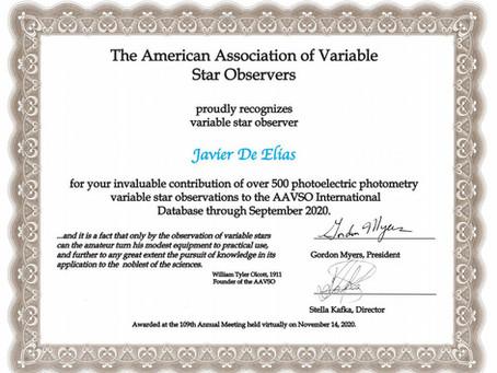 AAVSO award