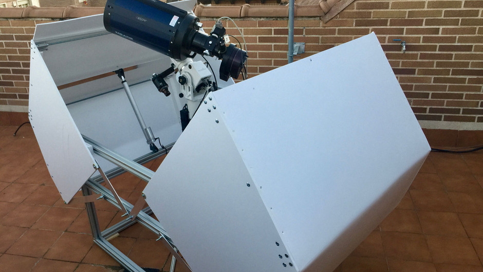 Diseño y montaje de un mini observatorio de terraza