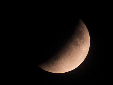 Partial Moon Eclipse on Apollo 11 Anniversary