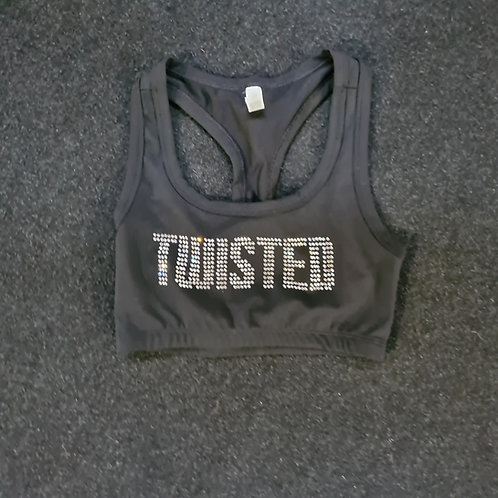 Twisted Bling Sports Bra