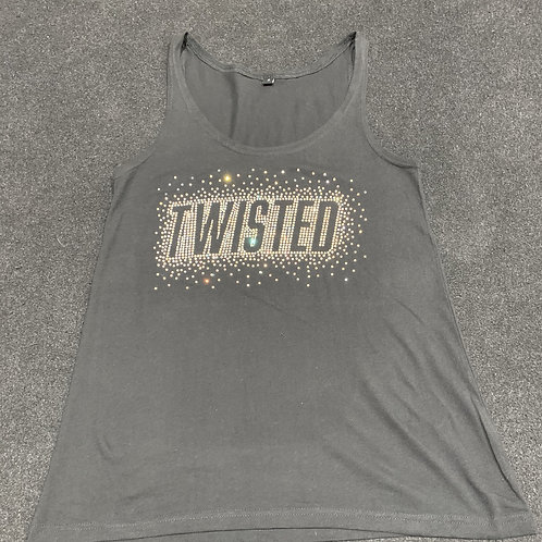 Adult 'Twisted' Bling Vest Top