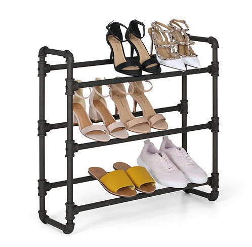 Real Home Innovations Modern Industrial Style 3 Tier Shoe Rack