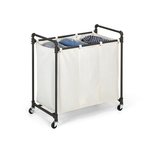 Real Home Innovations Modern Industrial Style Laundry Sorter