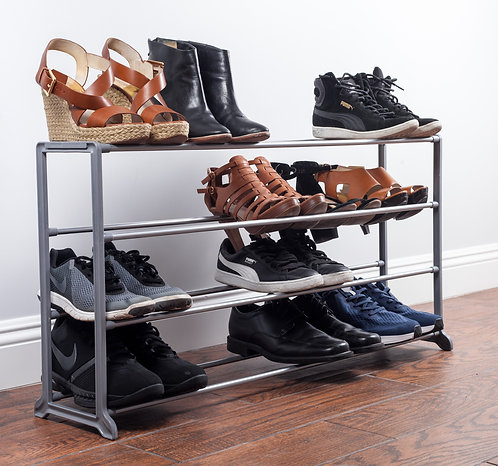 Real Home Innovations Deluxe Stackable 20 Pair Shoe Rack