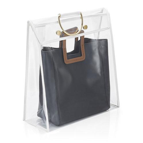 Real Home Innovations Medium Dust-Free Handbag Protector, Clear