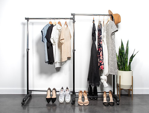 Real Home Innovations Deluxe Swing-Out Double Garment Rack