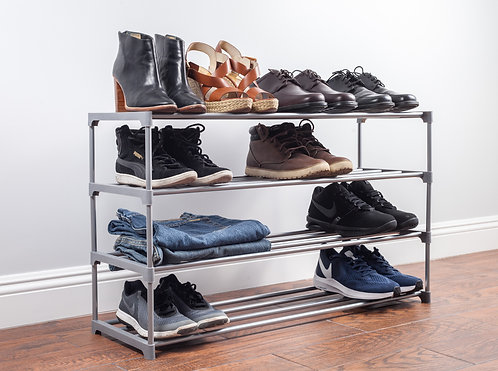 """Real Home Innovations 35"""" Wide Deluxe Stackable 4-Tier Accessory Rack"""