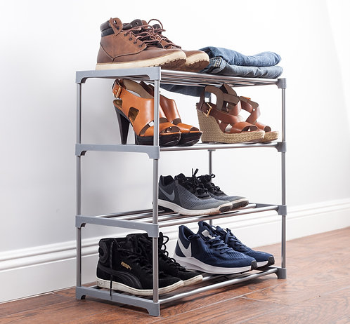 "Real Home Innovations 24"" Wide Deluxe Stackable 4-Tier Accessory Rack"