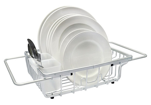 Real Home Innovations Deluxe Aluminum Expandable Over-the-Sink Dish Rack