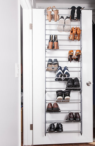 Real Home Innovations Deluxe 36-Pair Over-The-Door Shoe Rack