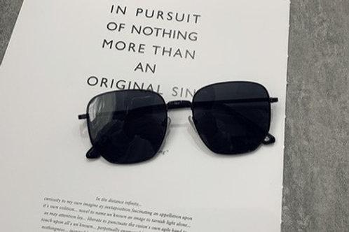 Black Thin Metal Sunglasses