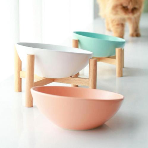 Pet Ceramic Bowl w/Stand