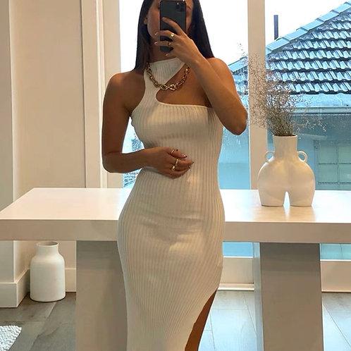 Cutout Ribbed Dress
