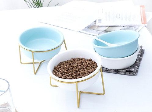 Pet Bowls w/Metal Stand