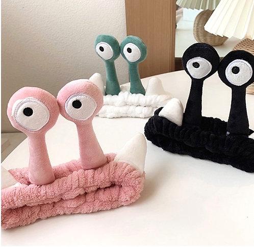 Snail Eyes Face wash Headband