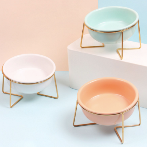 Small Pet Bowls w/Metal Stand