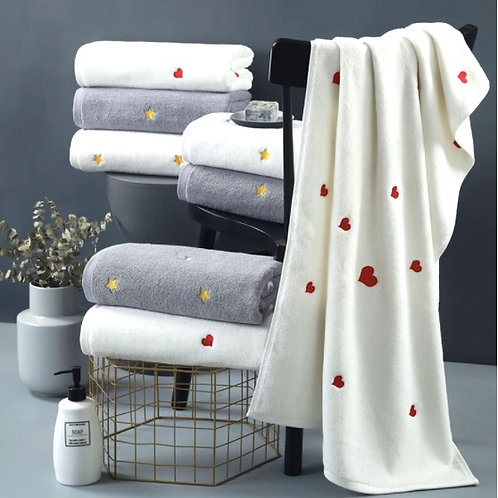 Embroidered Cotton Towel Set
