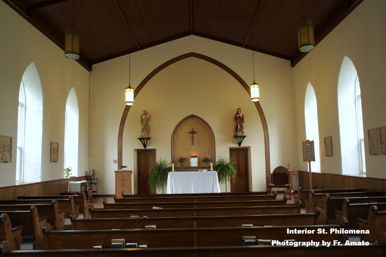 St. Philomena's, interior