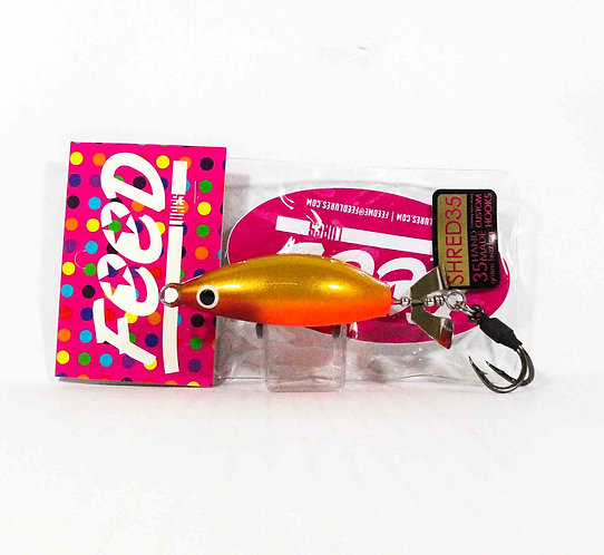 Feed Lures Shred 35 Hand Made Buzz Frog Floating Lure 35 grams 237 (0237)