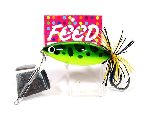Feed Lures Spin 26 Hand Made Wood Frog Floating Lure 26 grams 2 (1002)