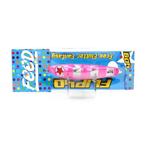 Feed Lures Metal Jig Flip 40 grams Pink Zebra (0998)