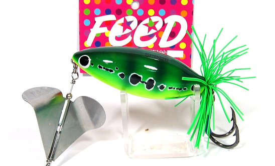 Feed Lures Spin 26 Hand Made Wood Frog Floating Lure 26 grams 8 (1008)