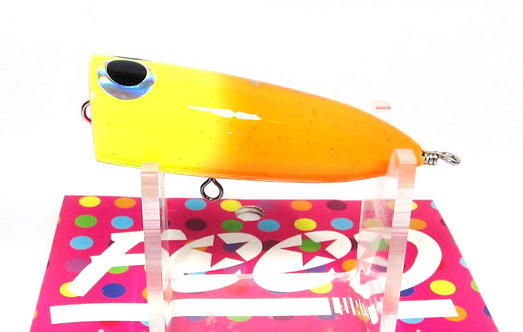 Feed Lures Bulb 8 Hand Made Wood Popper Floating Lure 8 grams 18 (4018)
