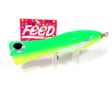 Feed Lures Pin 100 Hand Made Wood Popper Floating Lure 100 grams 22 (0022)