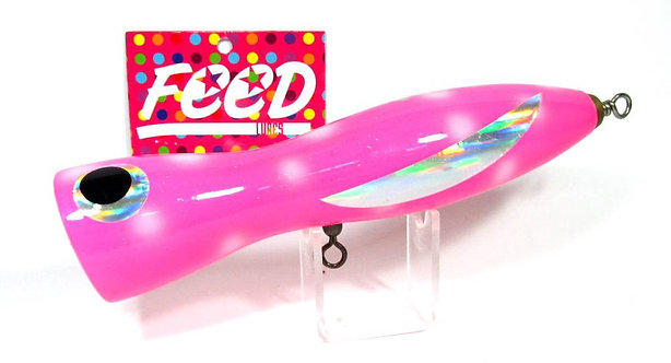 Feed Lures Pin 135 Hand Made Wood Popper Floating Lure 135 grams 51 (1051)
