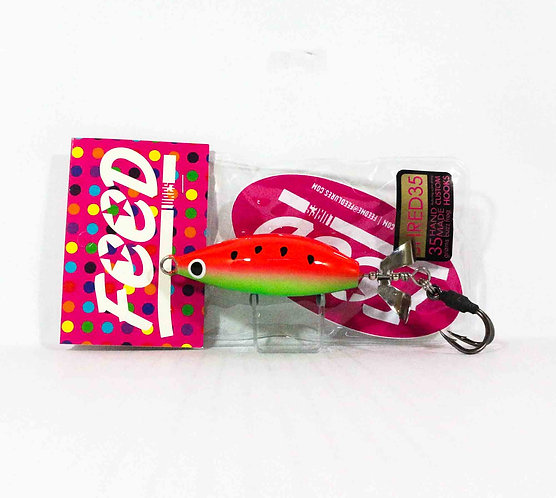 Feed Lures Shred 35 Hand Made Buzz Frog Floating Lure 35 grams 098 (0098)