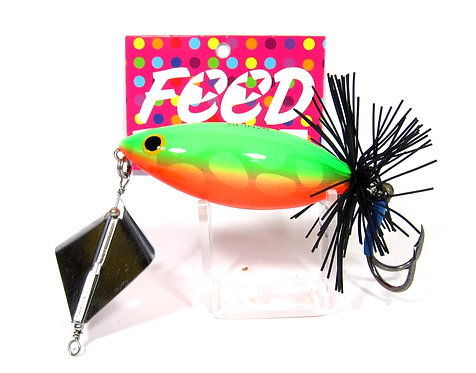 Feed Lures Spin 26 Hand Made Wood Frog Floating Lure 26 grams 5 (1005)
