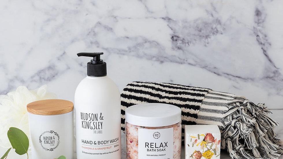 Relax Bath & Body Gift Basket