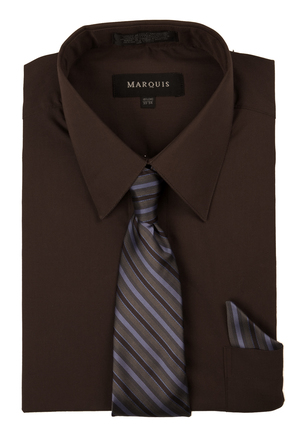 Dark brown dress shirt