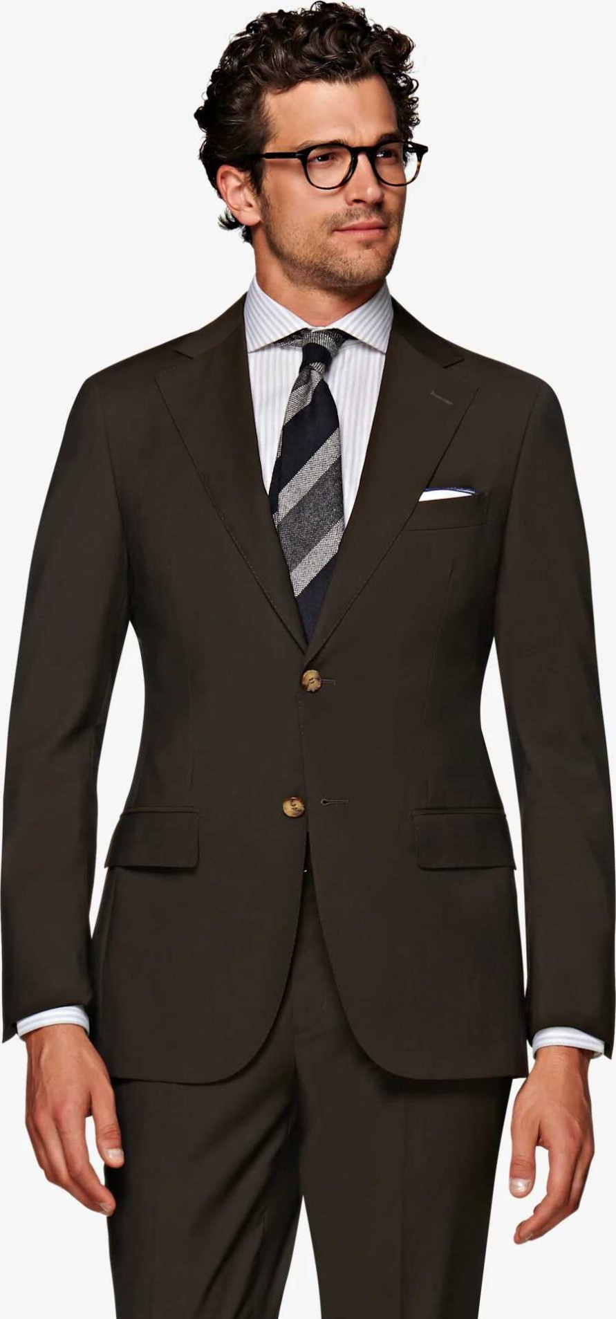 Suitsupply Dark Brown Napoli Suit