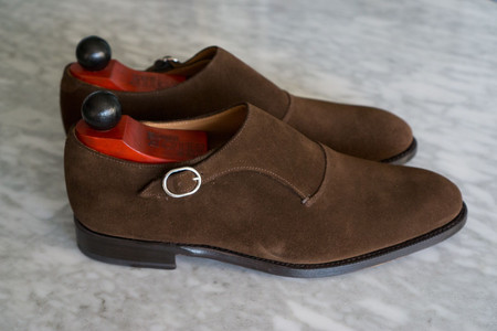 side view of J. Fitzpatrick Madrona Single Monk shoes
