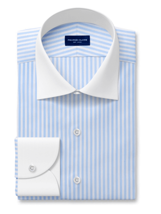 Proper Cloth dress shirt with contrast collar and cuffs