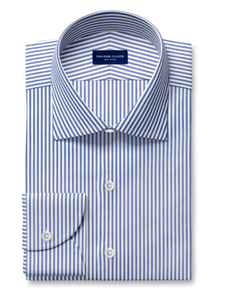 Proper Cloth Navy striped dress shirt