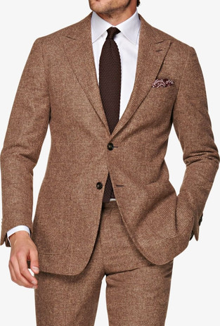 Suitsupply outlet sale: light brown check alpaca suitsupply suit