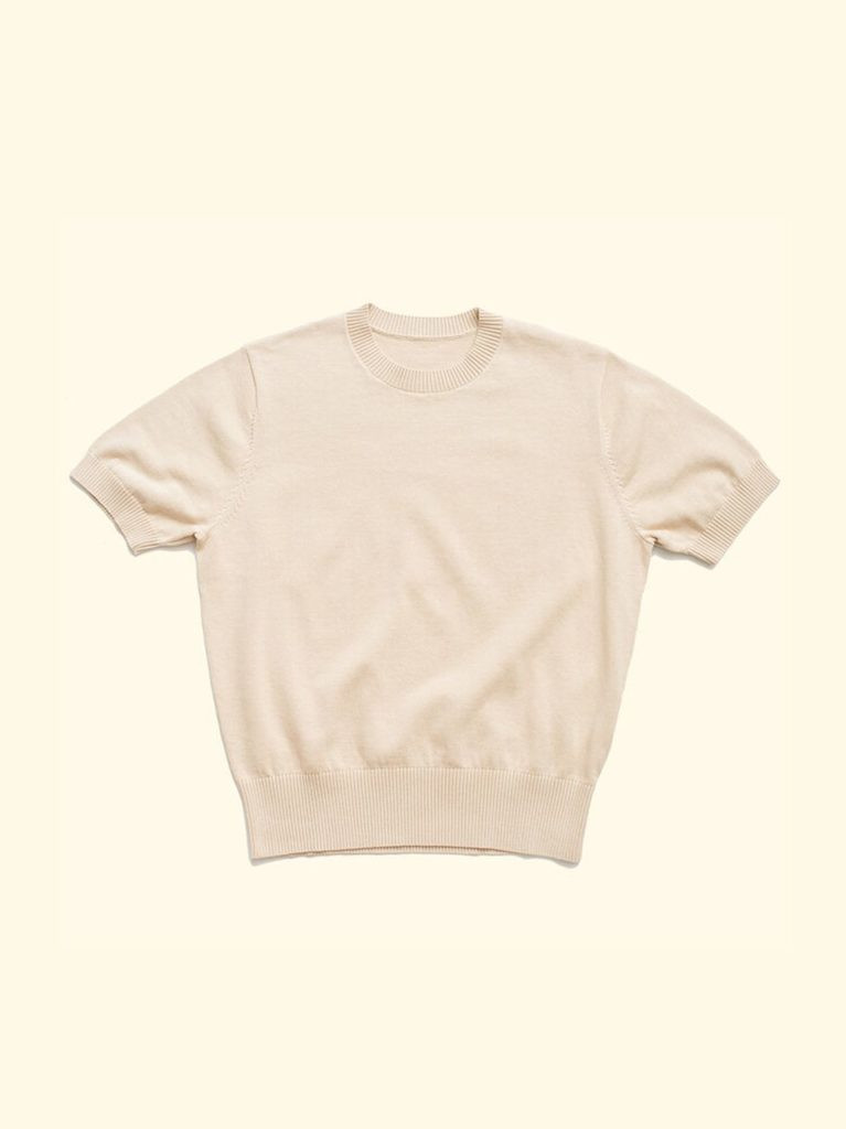 The Anthology cream knitted t-shirt