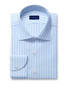 Proper Cloth Navy reverse stripe dress shirt