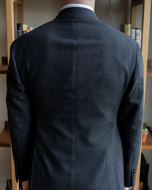 Anglo-Italian suit jacket back before alterations