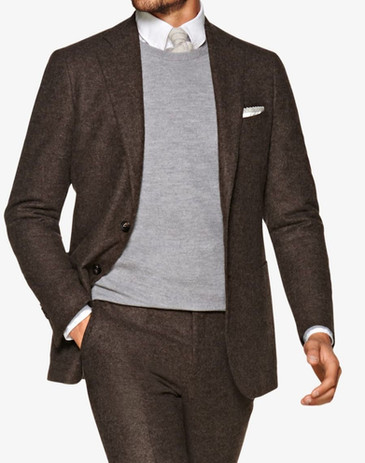 Suitsupply outlet sale: Dark brown alpaca suitsupply suit