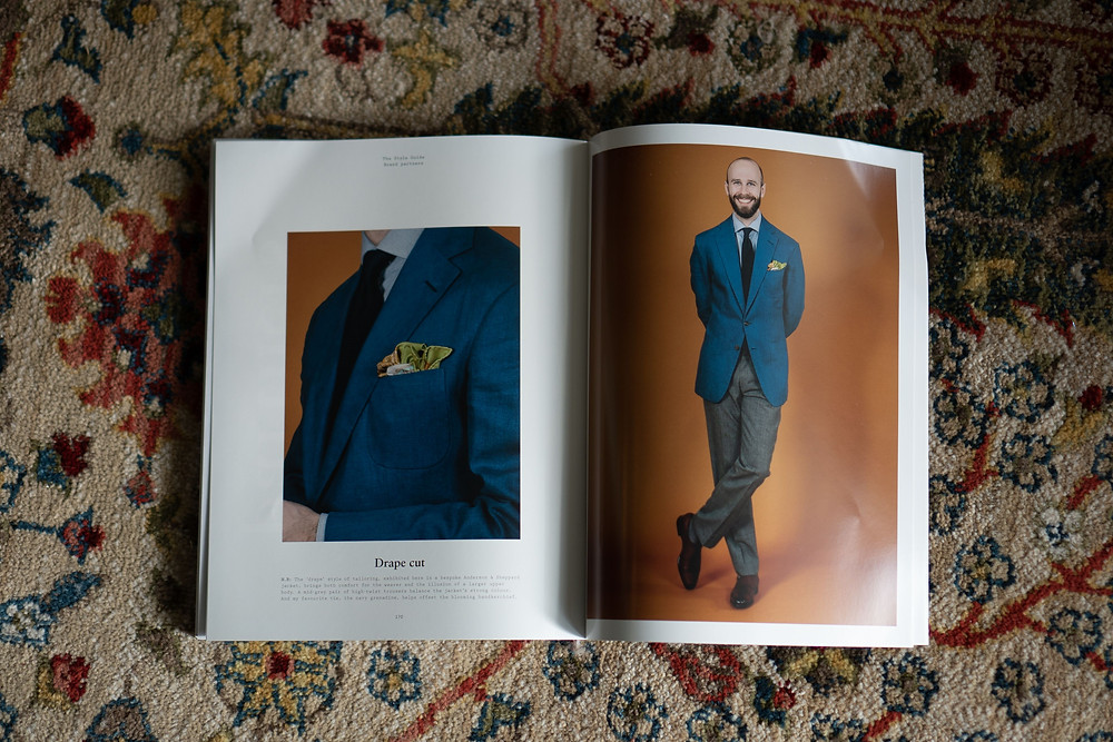 Ad for Anderson & Sheppard on page 170 of The Style Guide by Permanent Style (aka Simon Crumpton)