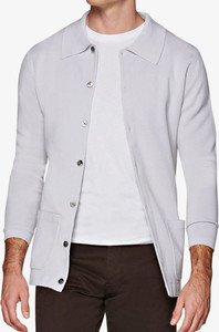 Suitsupply outlet sale: light gray suitsupply cardigan
