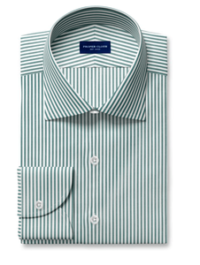 Proper Cloth green striped dress shirt