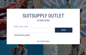 Suitsupply Outlet open