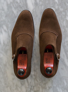 top view of J. Fitzpatrick Madrona Single Monk shoes