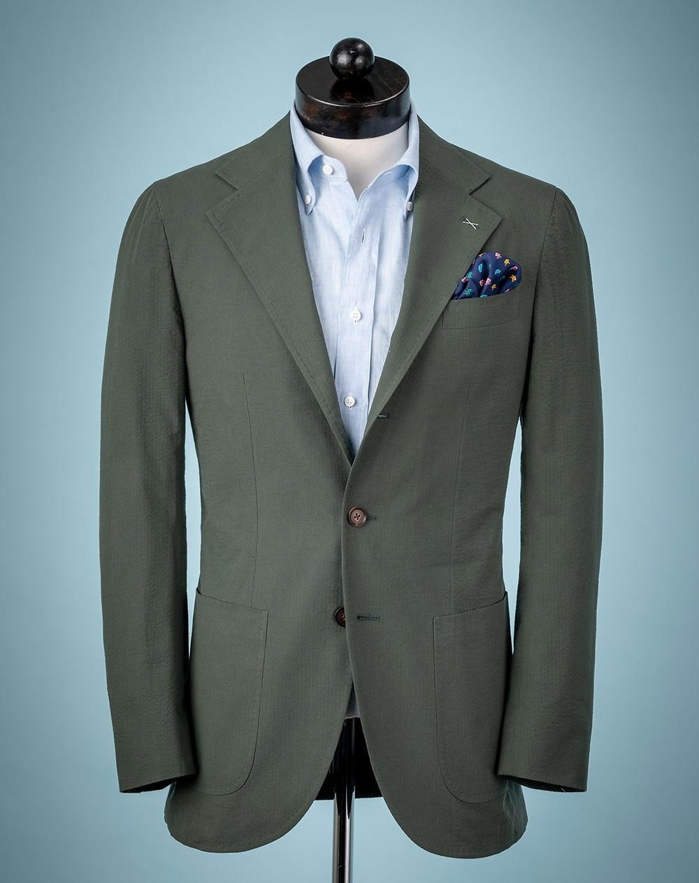 Spier MacKay Minnis Green Seersucker Neapolitan Suit